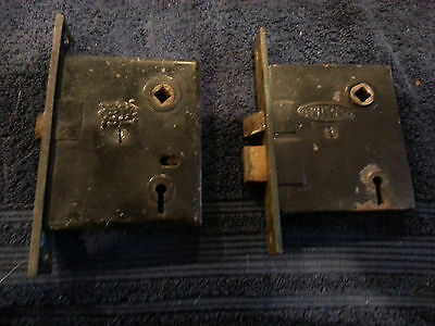 "Vintage  ""mortise""  Door Locks ""as Found""  Renovation   Restoration  Hardware"