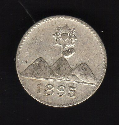 Guatemala 1/4 Real 1895 , Silver Very Nice Condition