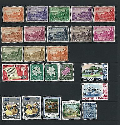 Norfolk Island On 1 Stock Page Side, Mint Hinged And Used