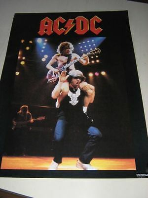 Ac/dc Poster 1983 Vintage Angus Young Brian Johnson Flick Of The Switch