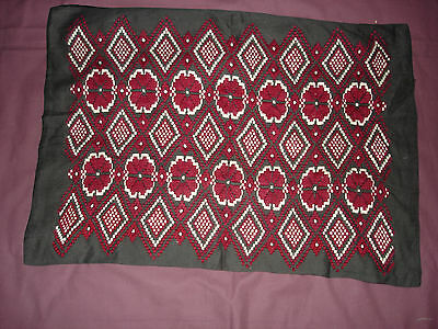 #445 Beautiful Vintage Hand Embroidered  Pillow Case 64cm/43cm(25''/17'')