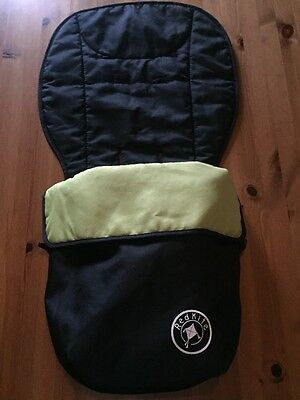Baby pushchair footmuff  In Black And Green From Red Kite Vgc!