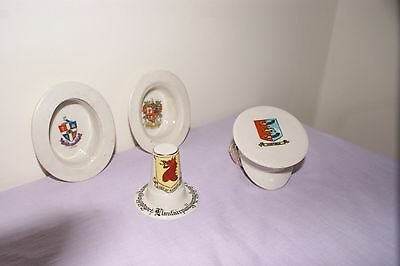 Crested china hats