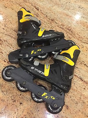 Bauer FX1 Inline Roller Skates UK Size 2  Good Used Condition - Will Post