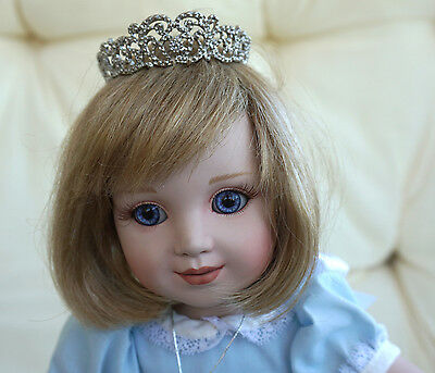 Danbury Princess Diana Porcelain Toddler Doll With Tiara In Original Box