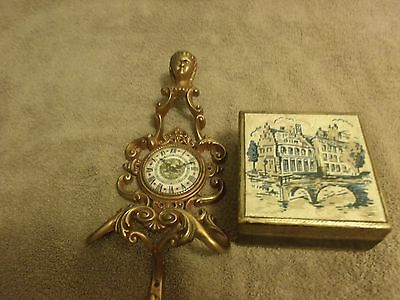 Vintage Depositato Sconce from Italy and Hand Painted Box
