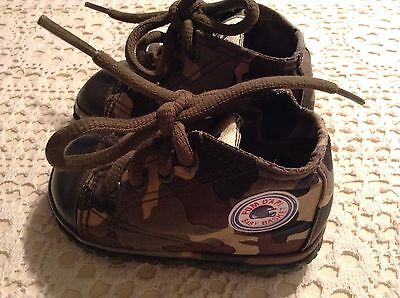Pom D'api Baby Basket: Chaussures Jungle Style Camouflage Pointure 21,valeur 80€