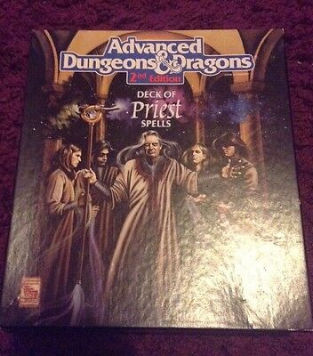 advanced dungeons and dragons 2nd Edition Deck Of Priest Spells