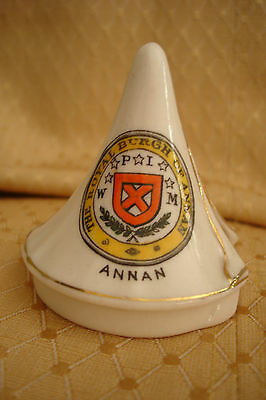 Ww1  Crested China Bell Tent The Royal Burgh Of Annan Crest