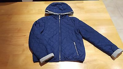 ZARA Girls Clothes Hooded Quilted Jacket / Coat Age 7-8 Years