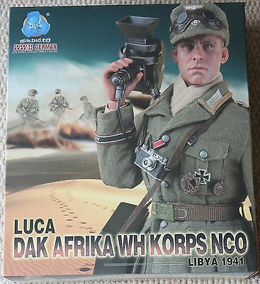 did action figure german luca afrika korps 1/6 12'' boxed hot toy ww11 dragon