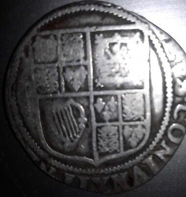 VERY RARE1604-1619 KING JAMES 1st SOLID SILVER SHILLING FIFTH BUST SPINK2656 A22