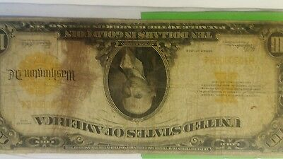 1922 gold certificate hillegas large note