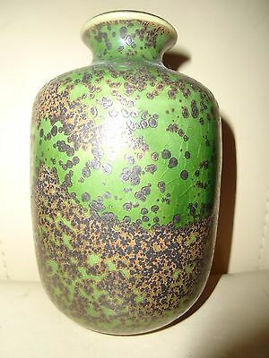 Vintage 1960's GERMAN Art Studio Pottery Ceramic Vase Signed ELMAR KUBICEK