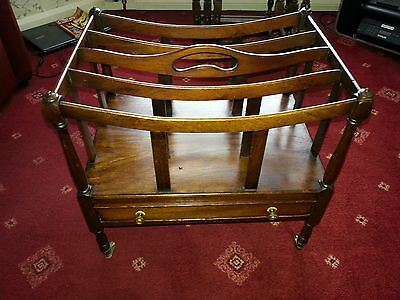 Reproduction Victorian Style Wooden Canterbury Magazine Newspaper Rack Holder