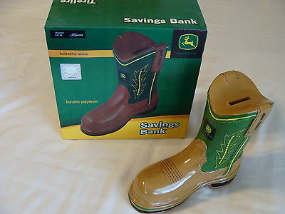 John Deere Boot Savings Bank  Collectible Series  New In Box