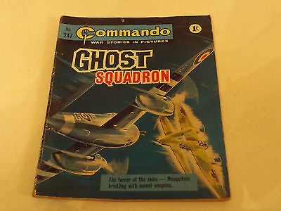 Commando War Comic Number 247!!,1967,good For Age,49 Year Old Issue,very Rare.