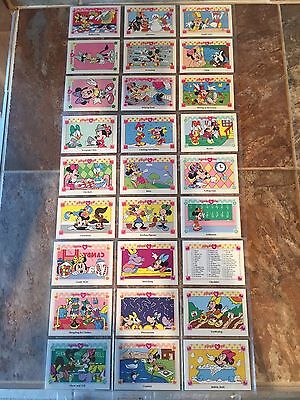 Disney Minnie n' Me Vintage Trading Cards Mint New in Archival Sheets 27 cards