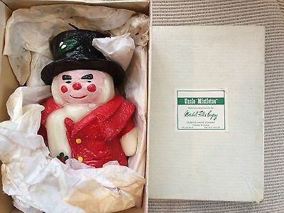 Vintage Marshall Field Uncle Mistletoe Candle With Box