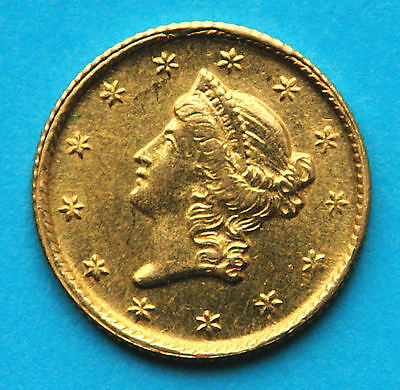 USA Liberty Head $1 1853 GOLD