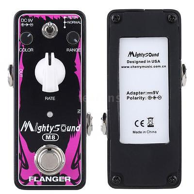 Mighty Sound True Bypass Classic Flanger Electric Guitar Effect Pedal U9X8