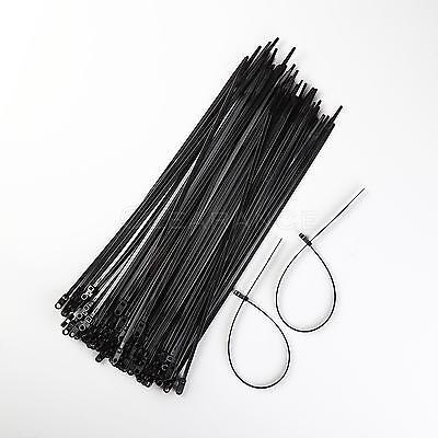 100 Pack 15 Inch Mounting Hole Zip Ties Nylon Black Nail Screw Wire Cable 40Lb