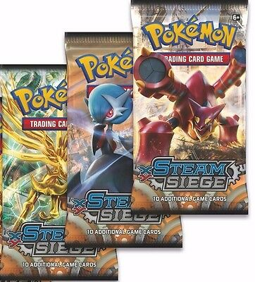 Pokemon Trading Card Game TCG XY - 11 Steam Siege 3 x Booster Packs