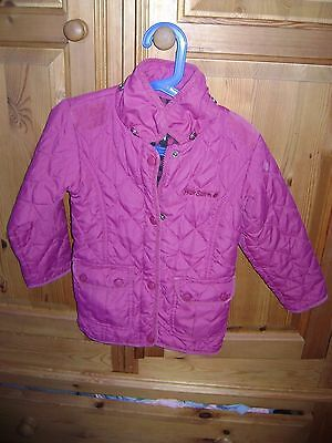 Peter Storm girls dark pink coat. 5-6 yrs
