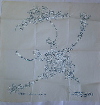 Embroidery transfer vintage,4 sheets for tablecloth, floral pattern, Briggs