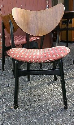 Retro vtg mid century G Plan E Gomme TOLA Butterfly back 4 x chairs