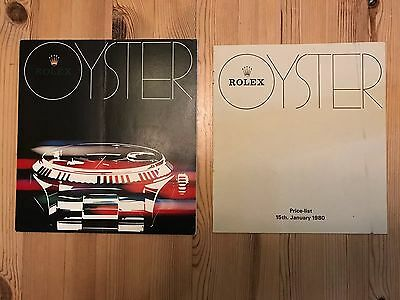 ROLEX OYSTER 1980 catalogue and price list