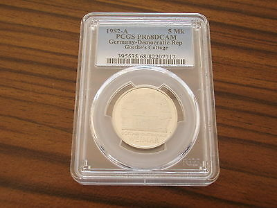 Germany GDR proof 5 Mark 1982 Goethe ´s Cottage Weimar PCGS PR68DCAM