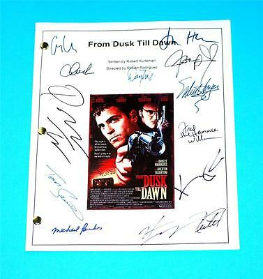 From Dusk Till Dawn Script Signed Rpt Quentin Tarantino  George Clooney