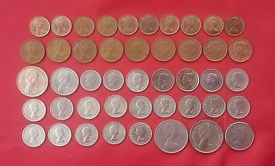 United Kingdom 45 Coins Collection New Penny, New Pence,pence,penny 1948 - 2008