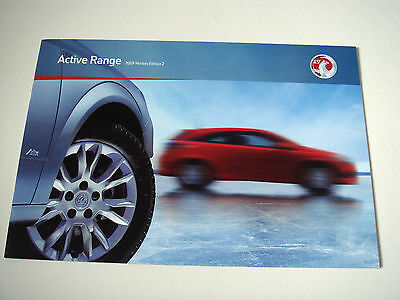 Vauxhall . Active Range . 2009 Models Edition 2 . Sales Brochure