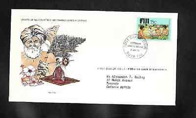Fiji First Day Cover - Kava Bowl, Laborers  - 1979 - Limited Edition - Embossed