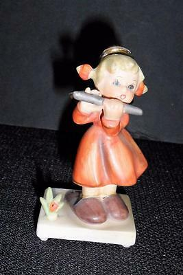 "Vintage 1959 NAPCO Japan Porcelain ANGEL with FLUTE 4 1/2""h Figurine #C4012E"