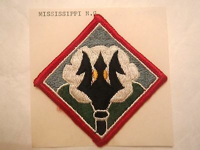 Mississippi State U. S. Army National Guard Embroidered Military Patch
