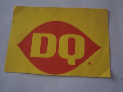 Vintage Red And Yellow Dairy Queen Dq Sticker/decal