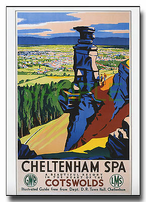 GWR LMS repro poster of Cheltenham Spa by Cecil Harry Birtwhistle c1939