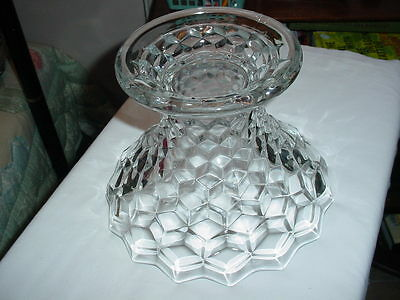 """American Fostoria 7"""" Punch Bowl Base Stand for 14"""" Punch Bowl - L@@K!"""