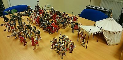 Schleich & Papo Knights, Dragon, Tent & Catapult Collection