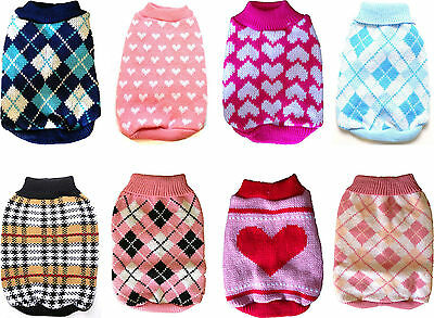 Cute Knitted Dog Jumper Sweater Vest Pet Clothes Various UK Seller Fast Dispatch