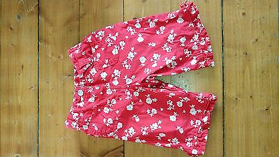 baby girl 3/4 lenght shorts size  12-18 months from next