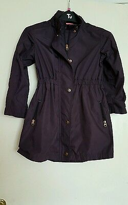 Ted Baker girls purple coat age 9 nice