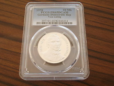 Germany GDR proof 10 Mark Silver 1978 Justus von Liebig PCGS PR65DCAM