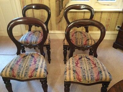 Dining roomChairs x 4 Edwardian style very solid in perfect condition beautiful