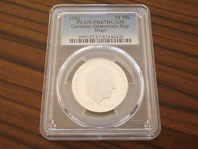 Germany GDR 10 Mark 1981 idealism philosopher Hegel PCGS PR67DCAM proof Silver