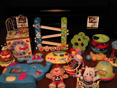 wooden and musical toy bundle 13 items