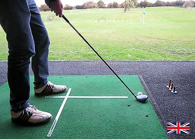"""Two Sticks"" Golf stance alignment and ball positioning practice system."